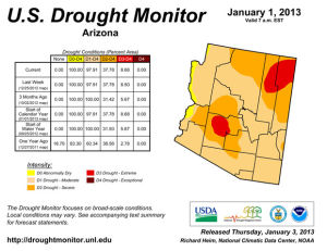 Animation: 2013 drought conditions in Arizona