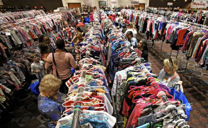 Families buy and sell at downtown consignment sale
