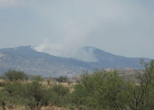 Wildfire east of Tucson grows