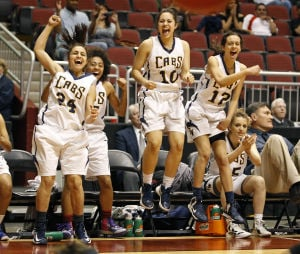 High School girls basketball: Leikem, smothering defense push Flowing Wells to semis