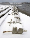 Shipwrecks exposed in the Great Lakes