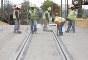 Final streetcar-track weld planned today in downtown Tucson
