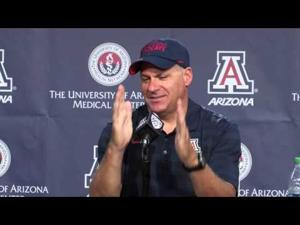 Rich Rodriguez and several players take questions