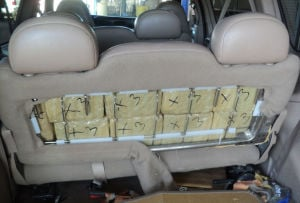 $93,000 worth of pot found in van at Douglas crossing