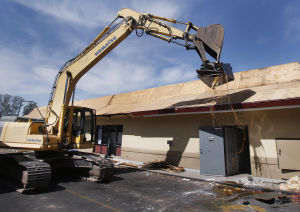 Photos: McDonald's near UA is demolished