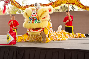 Music, game, food bring in Chinese New Year