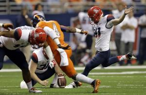 How does Casey Skowron compare to UA's best kickers?