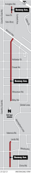 Bonney Avenue Locater map for Streets Smarts