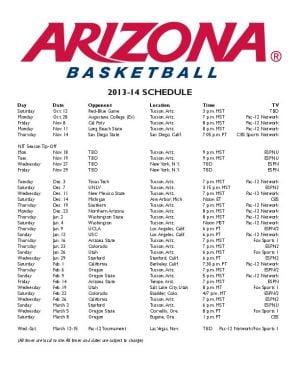 Wildcats announce basketball TV times