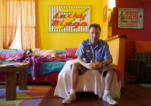 Bisbee's style suits comic Doug Stanhope