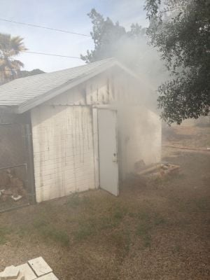 Midtown Tucson fire damages garage, Audi