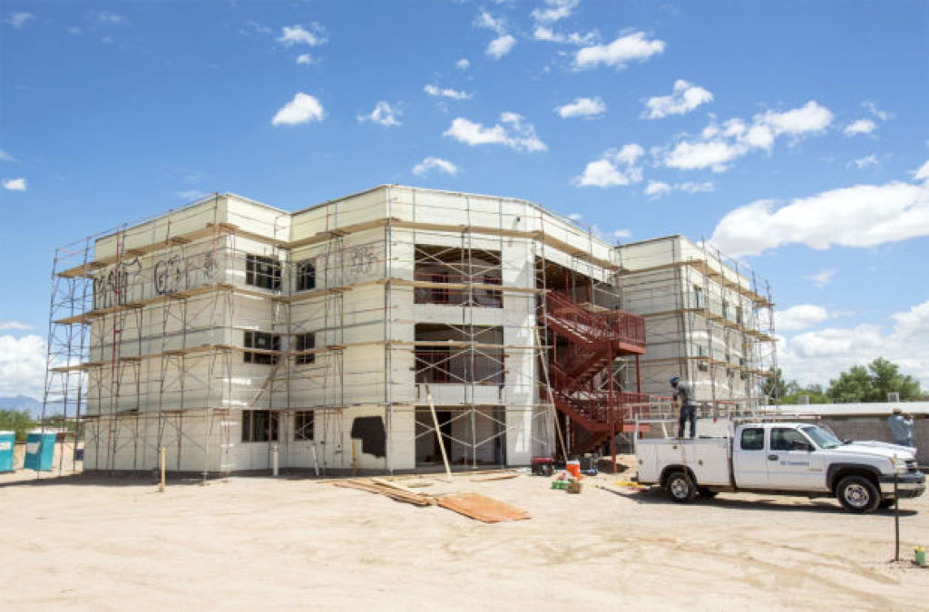 The Alvord Court Apartments, 5901 S. Park Ave., are a small complex specially designed for disabled people. They're scheduled to open this fall. | Ron Medvescek / Arizona Daily Star