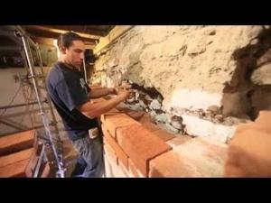 Watch brick work on San Xavier tower room