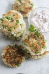 A springtime take on the classic crabcake