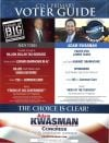 Voter guide from the Kwasman campaign page 1