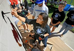 Photos: Elvira Elementary School mural