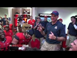 Video: Locker room after Cats win PAC-12 South