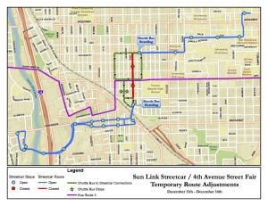 Streetcar route adjusted for Fourth Avenue Street Fair