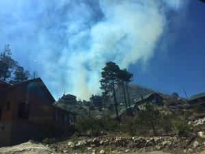 Mt. Lemmon Highway closed as crews battle blaze