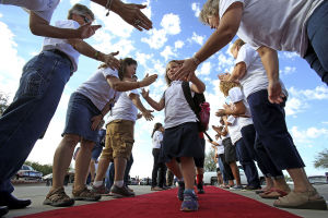 Students get red-carpet treatment