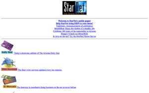 Photos: StarNet home pages from the start