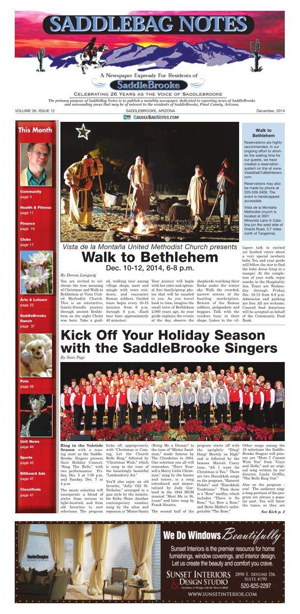 SaddleBag Notes Dec 2014 Edition