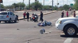 Motorcyclist, bicyclist injured in separate crashes
