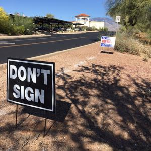 Controversial signs fell under free speech, town says
