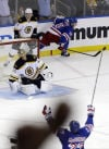 NHL playoffs: Rangers 4, Bruins 3, OT: Two comebacks, OT goal let New York avoid sweep