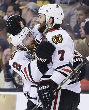 Stanley Cup Finals: Blackhawks 6, Bruins 5, OT: Chicago ties it up