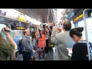 Flash mobbing streetcar