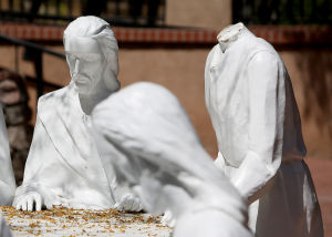 Statues smashed at Tucson's Garden of Gethsemane park