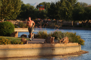 Photos: Leaky Sahuarita Lake no cheap fix