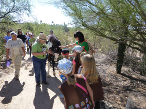 Rickie the horse serves as docent at Tohono Chul