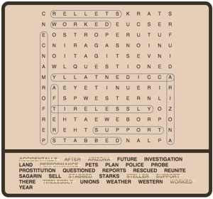 Headlines Word Search