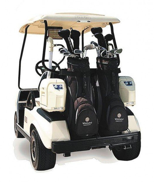 Air-conditioned Golf Carts Hitting The Greens