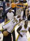 NBA playoffs: Pacers 99, Heat 92: Pacers tie series at 2 as LeBron fouls out
