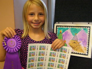 Gale Elementary student wins Tucson Birthday Stamp Contest