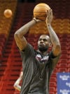 NBA Finals Heat's LeBron James has Spurs in his sights