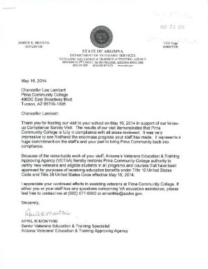 State lifts ban on veteran enrollments at PCC