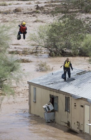 Floods force dramatic rescues in Phoenix area
