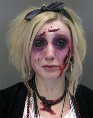 N.Y woman in zombie costume busted on DUI — twice