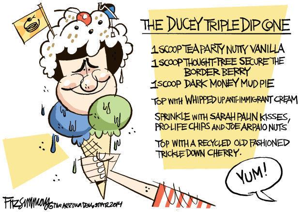 Daily Fitz Cartoon: The trlple dip