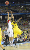 NCAA CHAMPIONSHIP: LOUISVILLE 82, MICHIGAN 76: Louisville gives Pitino 2nd thrill