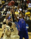 Women's NCAA tournament: Kansas upsets Colorado on road; UConn wins by 68