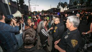Political Notebook: When protesters fight police, Trump wins