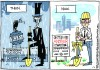 Daily Fitz Cartoon Downtown