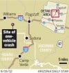 Map Site of one-vehicle crash that killed Cochise County sheriff Larry Dever