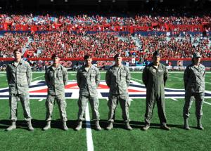 Airmen blog: Service members honored during U of A football games