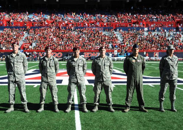 Airmen blog: Service members honored during U of A football games
